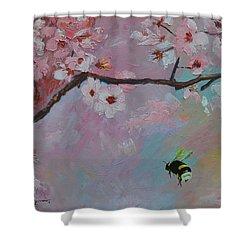 Oriental Cherry Shower Curtain by Sue Furrow