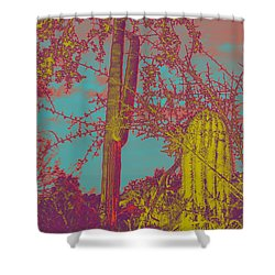 Oriental Colors Of Arizona Shower Curtain by Carolina Liechtenstein