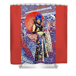 Oriental Cosplayer Shower Curtain by Ian Gledhill