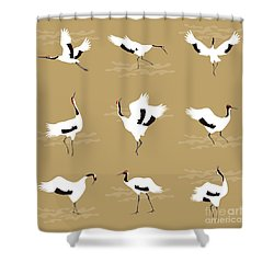 Oriental Cranes Shower Curtain