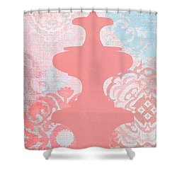 Oriental Far East Design Red Shower Curtain