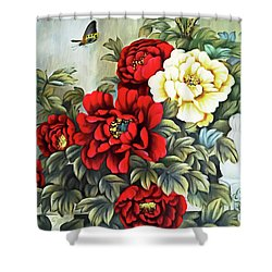 Shower Curtain featuring the photograph Oriental Flowers by Munir Alawi