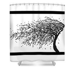 Oriental Foliage Shower Curtain by Gina Dsgn