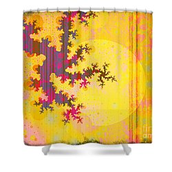 Oriental Moon Behind My Courtain Shower Curtain