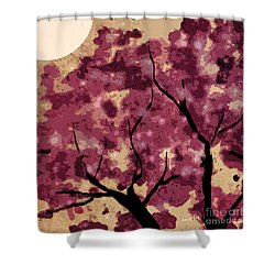 Oriental Plum Blossom Shower Curtain by Xueling Zou