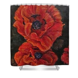 Oriental Poppys  Shower Curtain
