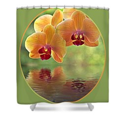 Oriental Spa - Square Shower Curtain by Gill Billington