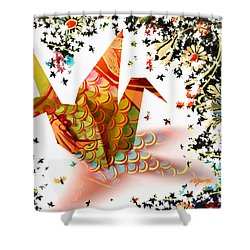 Origami 2017 Shower Curtain