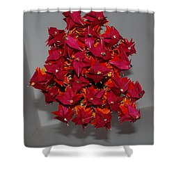 Origami Flowers Shower Curtain by Rob Hans