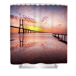 Origin Shower Curtain by Jorge Maia