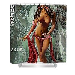 Original Female Nude Jean Goddess As Tara Dancing Poster Shower Curtain
