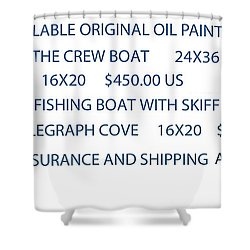 Shower Curtain featuring the painting Original Oil Painting Availability List by Gary Giacomelli