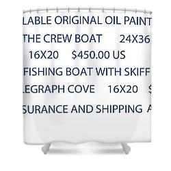Original Oil Painting Availability List Shower Curtain by Gary Giacomelli