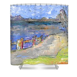 Asheville And The French Broad River Shower Curtain