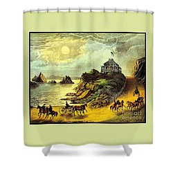 Original San Francisco Cliff House Circa 1865 Shower Curtain by Peter Gumaer Ogden