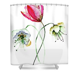 Original Summer Flowers Shower Curtain