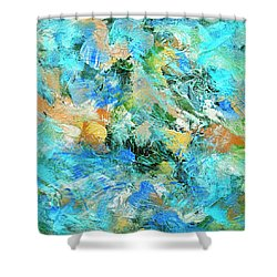 Shower Curtain featuring the painting Orinoco by Dominic Piperata