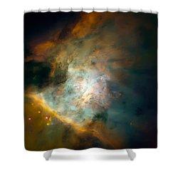 Orion Nebula Mosaic  Shower Curtain by Jennifer Rondinelli Reilly - Fine Art Photography