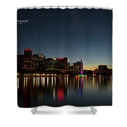 Orlando Beautiful Lake Eola Sunset Shower Curtain