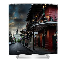 Orleans Street To St Louis Cathedral Shower Curtain