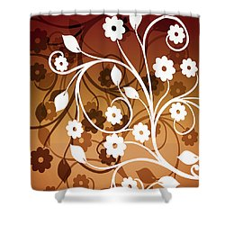 Shower Curtain featuring the digital art Ornamental 2 Warm by Angelina Vick