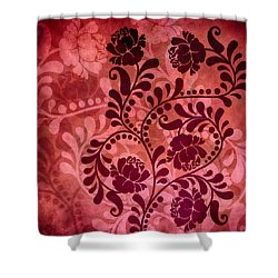 Shower Curtain featuring the digital art Ornamental Romance by Angelina Vick