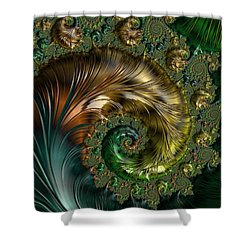 Ornamental Shell Abstract Shower Curtain
