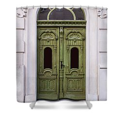 Ornamented Gates In Olive Colors Shower Curtain by Jaroslaw Blaminsky