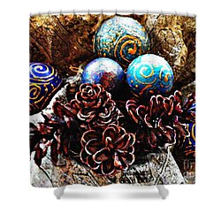 Ornaments 6 Shower Curtain by Sarah Loft