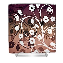 Shower Curtain featuring the digital art Ornametal 2 Purple by Angelina Vick