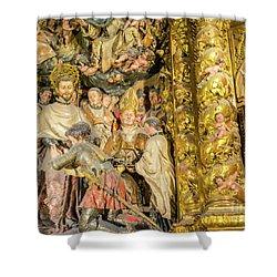 Ornate Gold Guilded Altar Shower Curtain