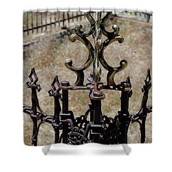 Ornate Iron Works Virginia City Nv Shower Curtain by LeeAnn McLaneGoetz McLaneGoetzStudioLLCcom