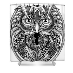Ornate Owl Shower Curtain