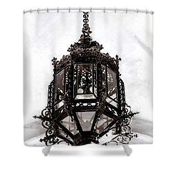 Ornate Wrought-iron Entrance Lantern Habsburg Vienna Shower Curtain