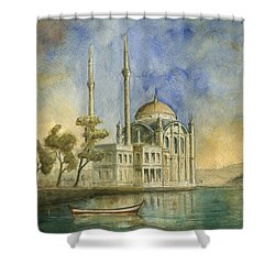 Ortakoy Mosque Istanbul Shower Curtain