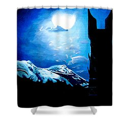 Orthanc Rescue Shower Curtain by Kayleigh Semeniuk
