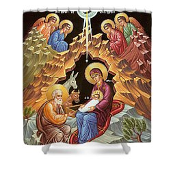 Orthodox Nativity Scene Shower Curtain