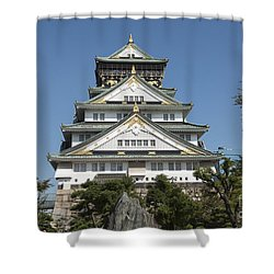 Shower Curtain featuring the photograph Osaka Castle by Pravine Chester