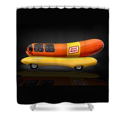 Oscar Mayer Wiener Mobile Shower Curtain by Gary Warnimont
