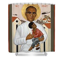 St. Oscar Romero Of El Salvado - Rlosr Shower Curtain