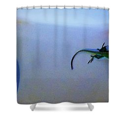 Shower Curtain featuring the photograph Oscar The Lizard by Denise Fulmer