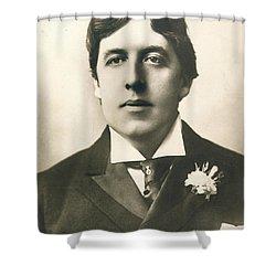 Oscar Wilde Shower Curtain by Granger