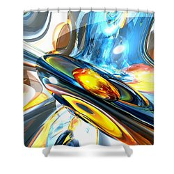Oscillating Color Abstract Shower Curtain by Alexander Butler