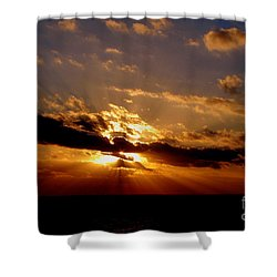Osculate Shower Curtain by Priscilla Richardson