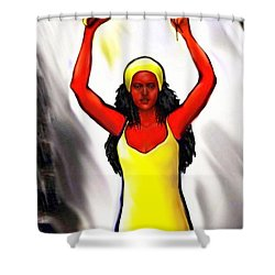 Oshun -goddess Of Love -4 Shower Curtain by Carmen Cordova
