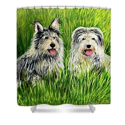 Oskar And Reggie Shower Curtain