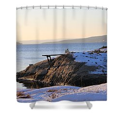 Oslo Fjords, Norway  Shower Curtain