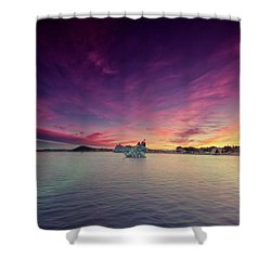 Oslo Harbor Shower Curtain