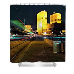 Oslo Town Hall Shower Curtain
