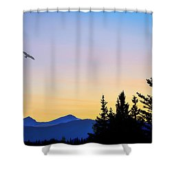Osprey Against The Sunset Shower Curtain